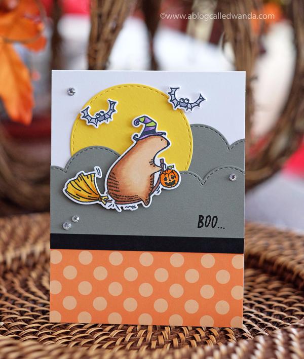 Waffle Flower Halloween Bear - Boo!