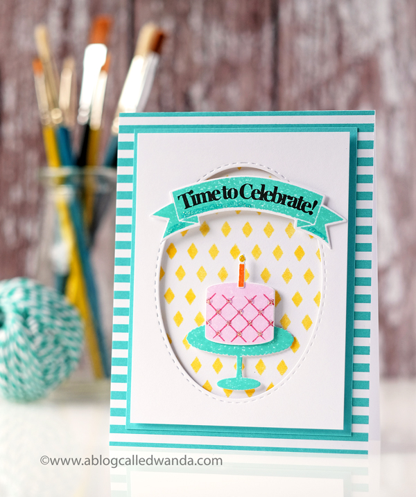Papertrey Ink Fiesta Flag Birthday stamp set. Card by Wanda Guess. PTI design team