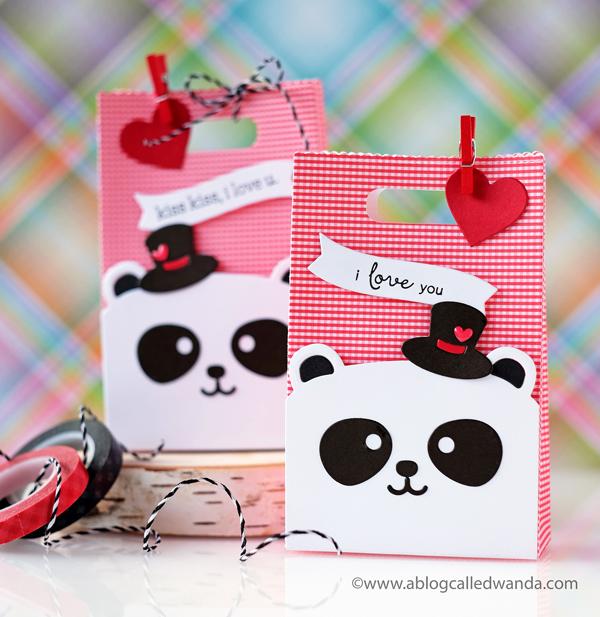 Mama Elephant Favor Bags. Panda Bear Valentines