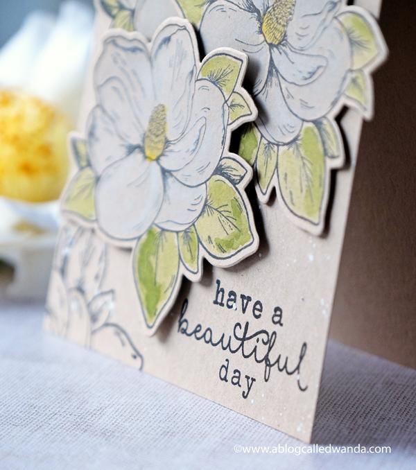 Hero Arts Flower stamps. Flowering magnolia