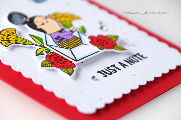 waffle flower enveloper stamps