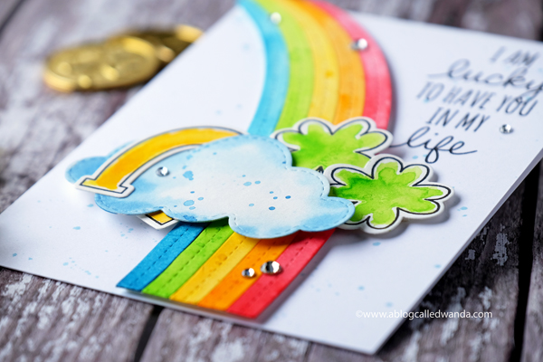 MFT stamps and dies St. Patrick's Day card