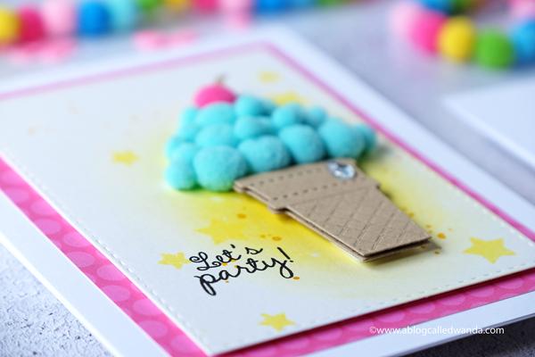 handmade birthday cards ice cream cone wanda guess