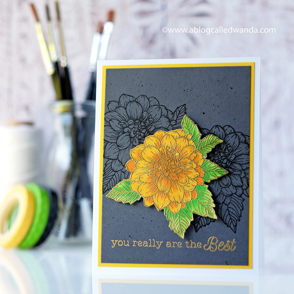 Hero Arts Dahlia stamps and dies