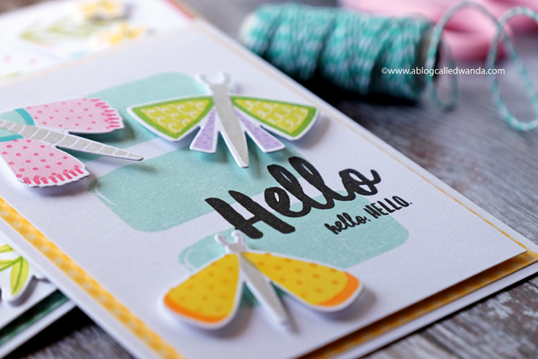 Handmade cards Right At Home Fluttering By stamps and dies