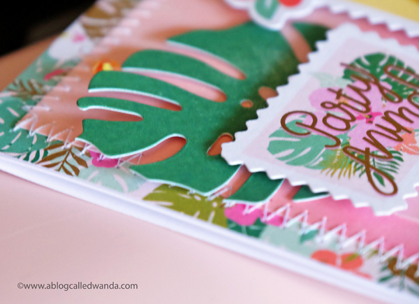 Sewing on Paper - zig zag stitch - Pink Paislee