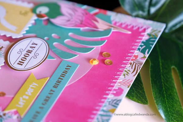 Pink Paislee card