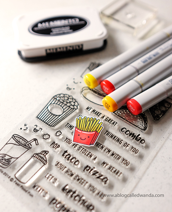 Sunny Studio Stamps Fast Food Fun stamps and dies