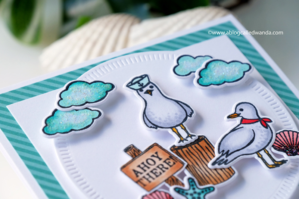 Hero Arts You and Me by the Sea stamp set. Seas the day seagulls stamp set. Ocean. Copics