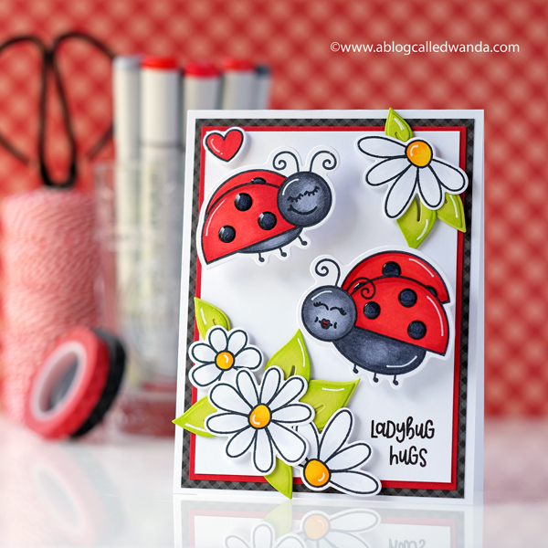 Honey Bee Stamps Little Ladies stamps and dies. Ladybugs and Copic Markers! Wanda Guess