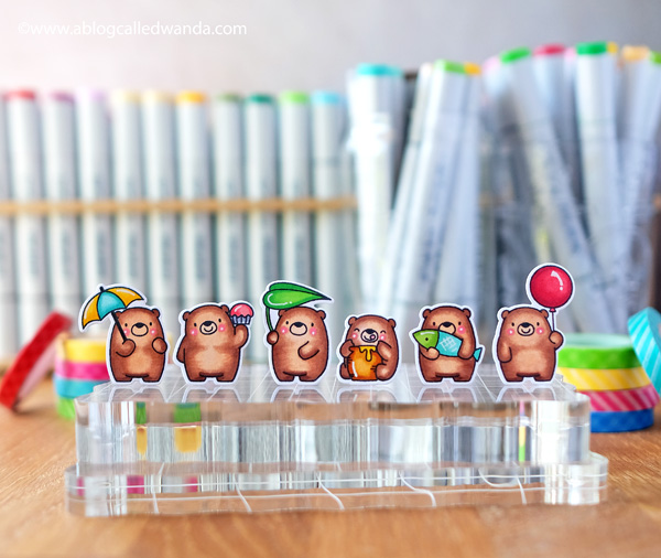 Copic markers and MFT Bitty Bears