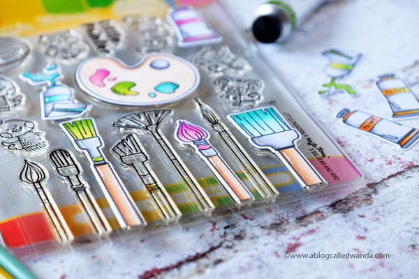 Waffle Flower Little Painters stamps and dies