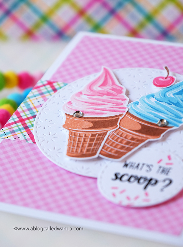 Sunny Studio Stamps Ice Cream cones