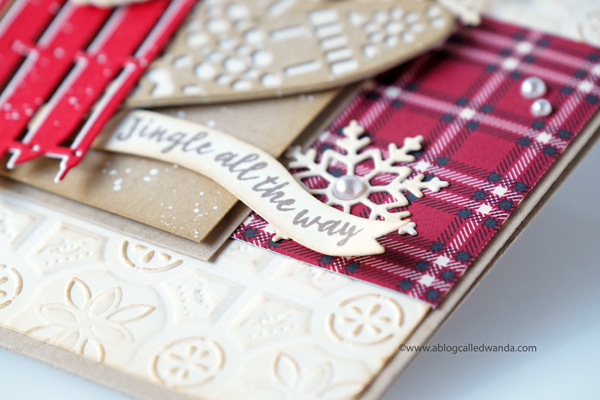 Plaid Christmas card. Stampin' Up Holiday 2018 catalog.