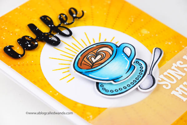 Coffee card ideas with ink blending background