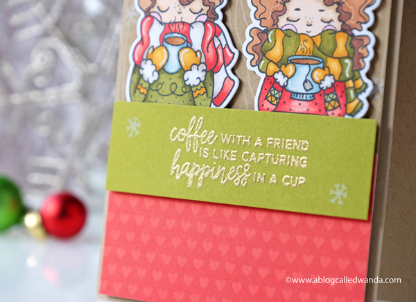 Coffee Christmas Card - cuppa friendship