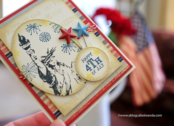 4th of July Vintage Card by Wanda Guess