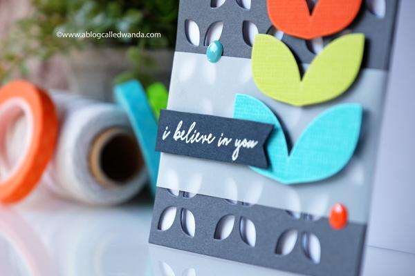 Reverse Confetti Mod Floral Stack