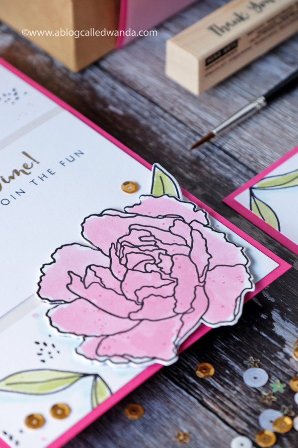 Handmade invitations with embossing and stamps