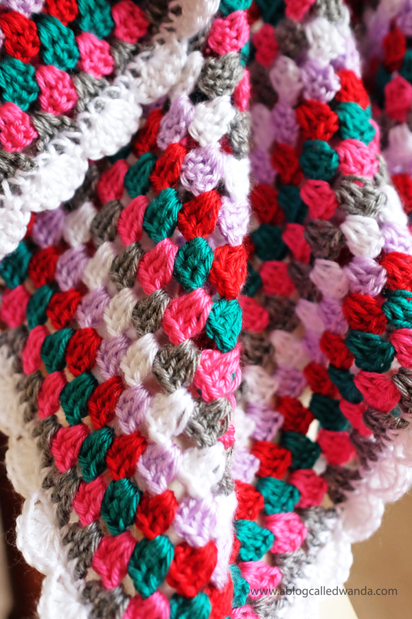 granny square crochet blanket. caron simply soft yarn. baby blanket