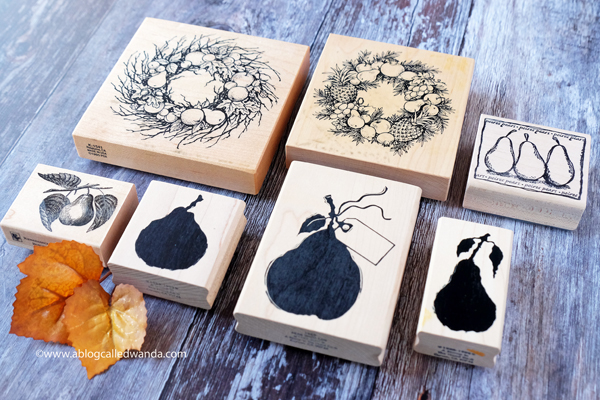 Rubber stamps - pears