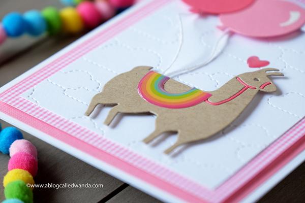 llama stamps and dies. llama card