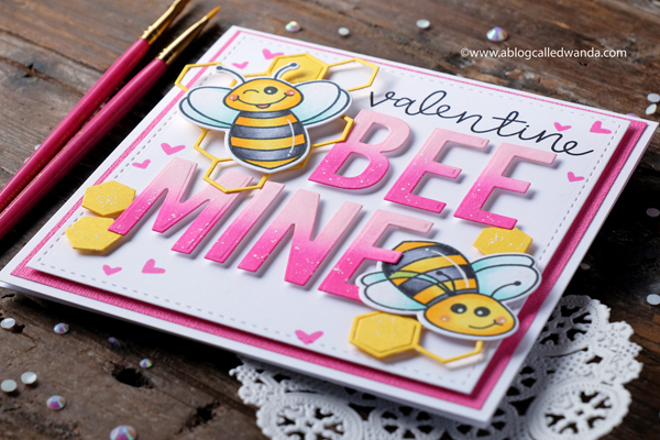 Bee Mine Valentine card! Handmade DIY Valentines