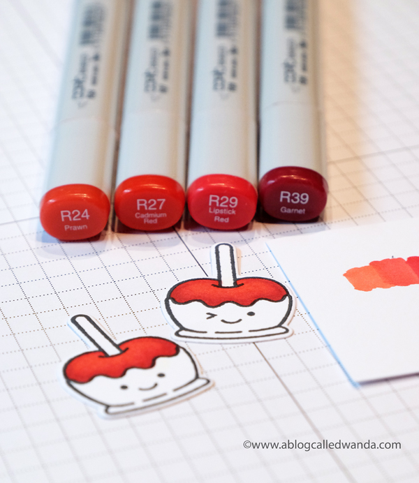 Copic Coloring for Apples