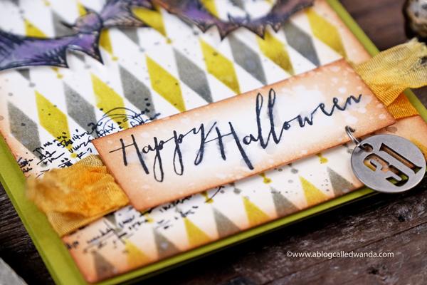 Tim Holtz Mini Halloween Stamp Set. Diamond Stencil. Halloween Tokens.