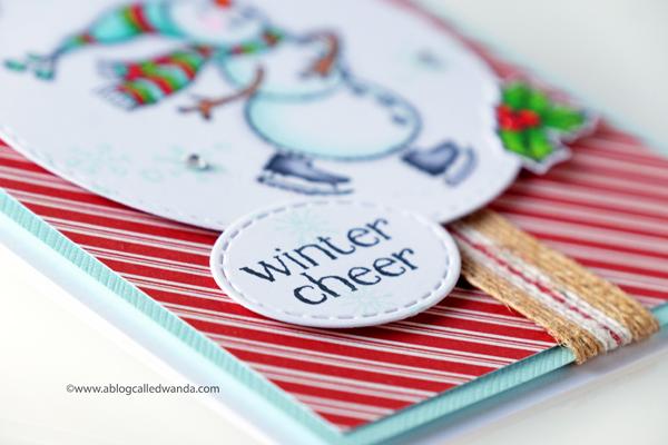 Handmade snowman card.