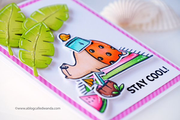 Waffle Flower Stay Cool Summer Card with Copics