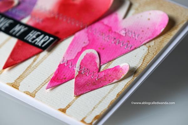 handmade valentine card. artsy