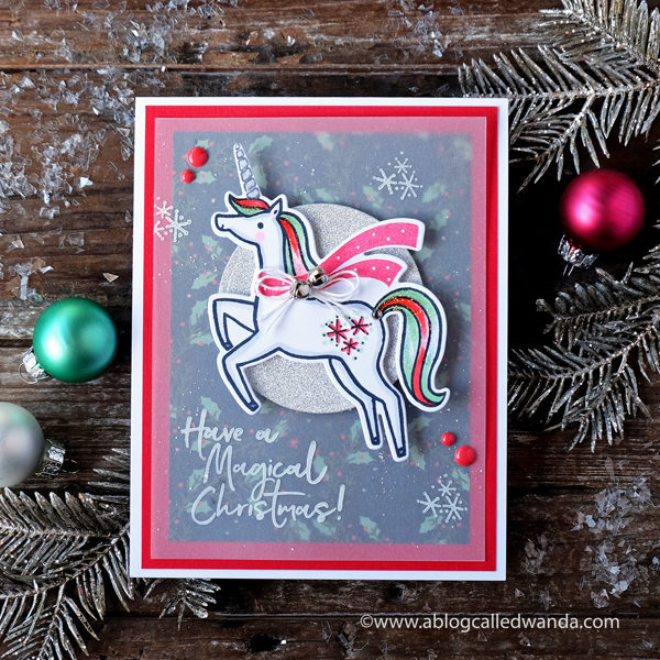 Pinkfresh Studio Magical Christmas. Christmas card handmade stamping and die cutting