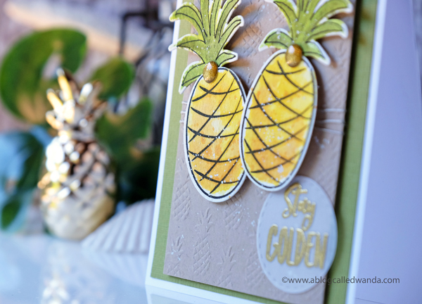 Ellen Hutson Stay Golden. Pineapple card