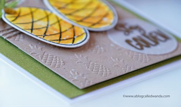 pineapple embossing folder