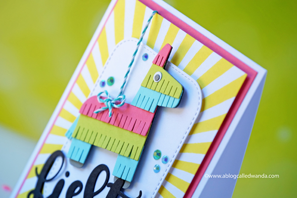 MFT Pinata dies and radiating stencils. My Favorite Things stamps