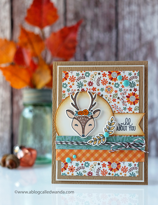 Concord & 9th Furry Friends stamps and dies. Fall theme. Wanda Guess