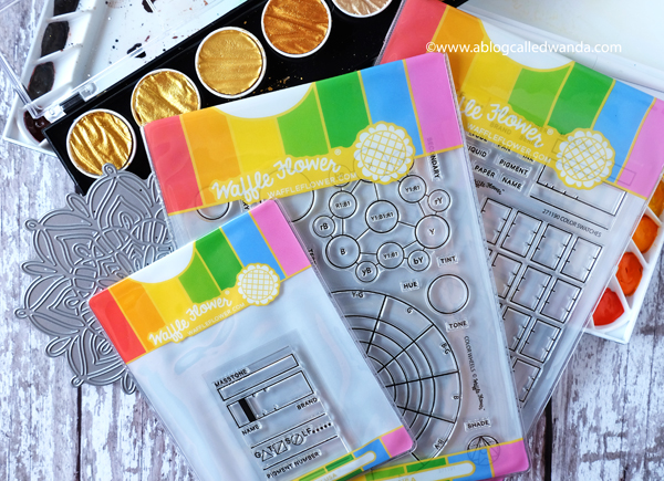 Waffle Flower new release color wheels and color swatch stamps and dies. Blog hop August