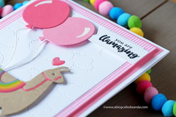 llama card. baby card, pink card. shower