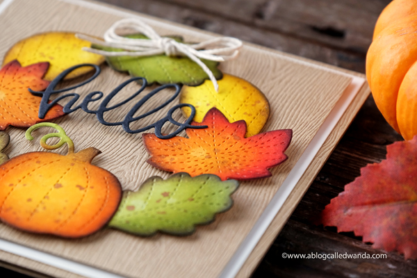Stitched leaves dies. Fall card