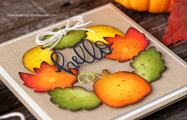 Fall and autumn themed card