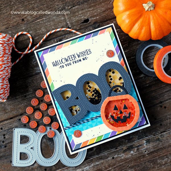 Halloween Card. Queen and Company Fright Fest Kit. Shaker card