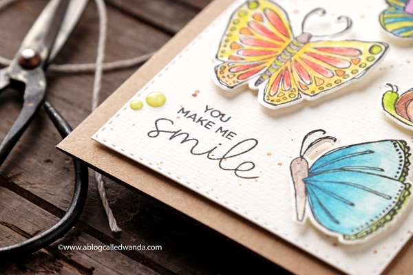 watercolor butterflies card