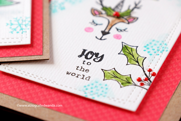 Clean and Simple christmas cards with stamps