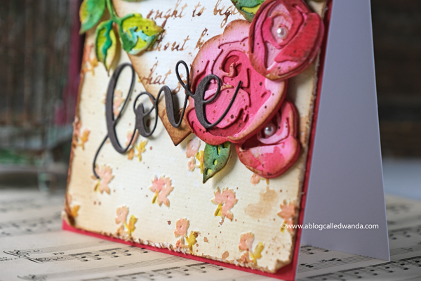 love die from simon says stamp. embossing folder