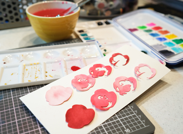Watercolor roses step by step