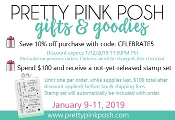 1 PRETTY PINK POSH PINATA PARTY STAMPS AND DIES