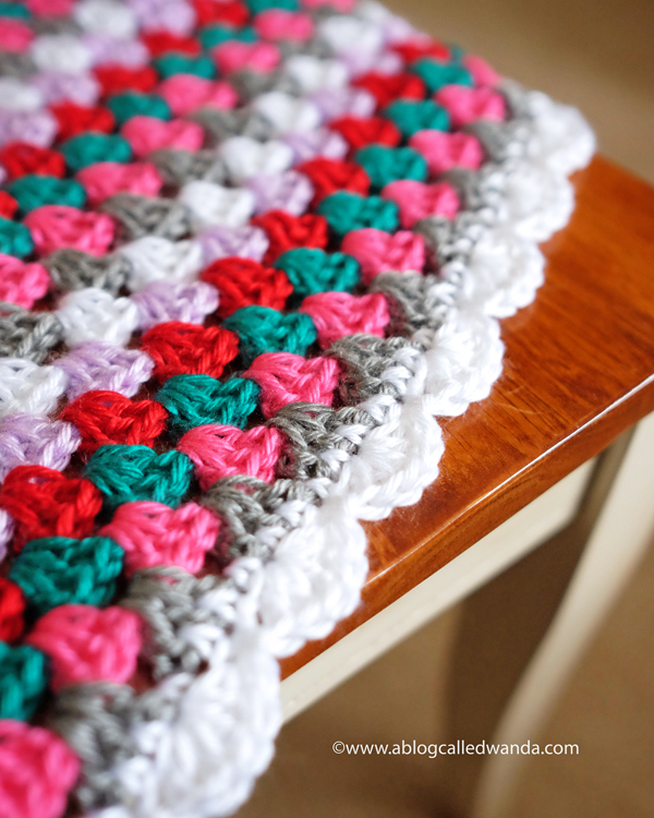 6a Granny Square Blanket With Shell Stitch Edge Crochet Baby
