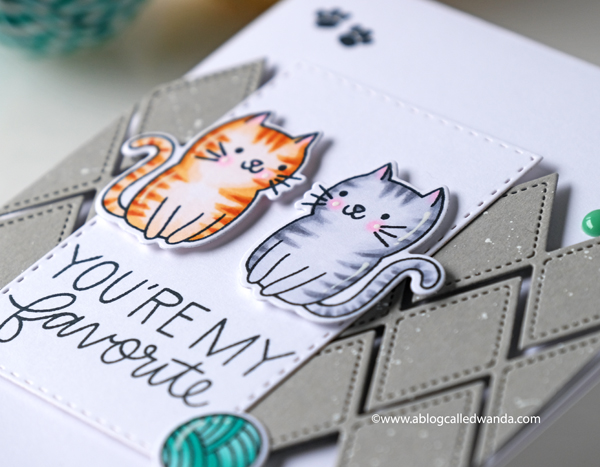 CUTE CATS STAMPS AND DIES. COPIC MARKERS. TABBY CATS