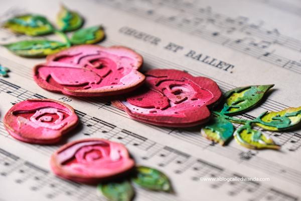 vintage paper roses